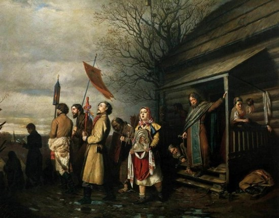 Religious Procession in a Village at Easter - Vasily Perov