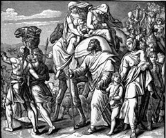 Jacob and his family flee Laban - Foster Bible Pictures