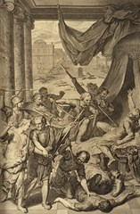 Simeon and Levi slay the people of Shechem - Gerard Hoet (1728)