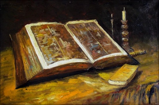 Still Life with Bible - Vincent van Gogh (1885)