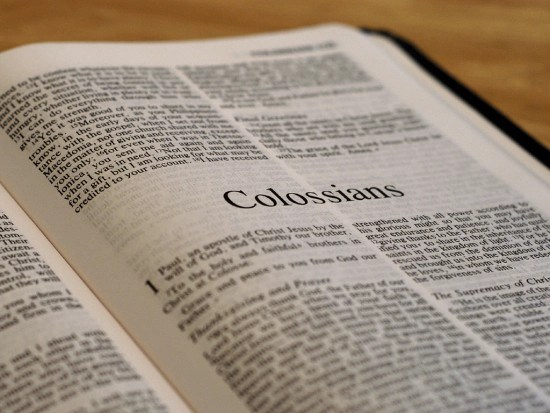 Detailed outline of the Book of Colossians
