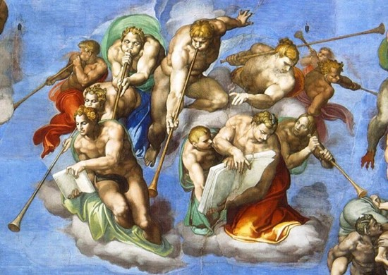 Detail from Michelangelo's Last Judgement