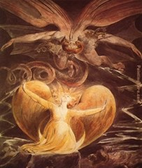 The Great Red Dragon and the Woman Clothed with the Sun - William Blake (1805-1810)