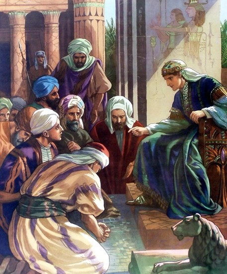 Joseph meets his brothers - Artist Unknown