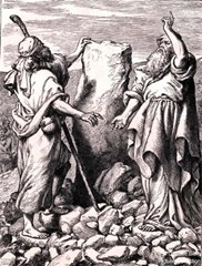 Jacob and Laban make a covenant - courtesy Ultimate Bible Picture Collection