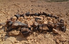 Pile of rocks likely a monument - Bible Walks