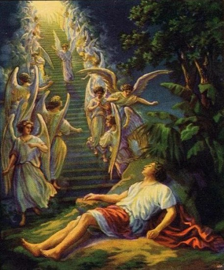 Jacob's Ladder - early 1900's European Christian painting