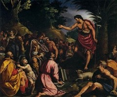 The Preaching of St John the Baptist, circa 1602, by Alessandro Allori