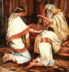 Jacob blesses Joseph's sons Ephraim and Manasseh - unknown artist