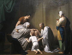 Jacob blessing Ephraim and Manassseh - Benjamin West (1768)