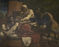 acob Blessing the Sons of Joseph by Giovanni Francesco Barbieri (Guercino) (1620)