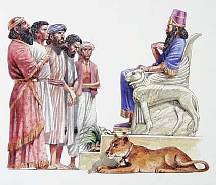 King Nebuchadnezzar demands the wise men tell him his dream