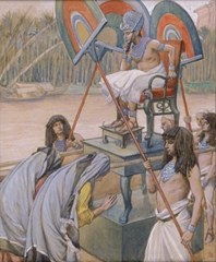 Pharaoh and the Midwives - James Tissot (1900)