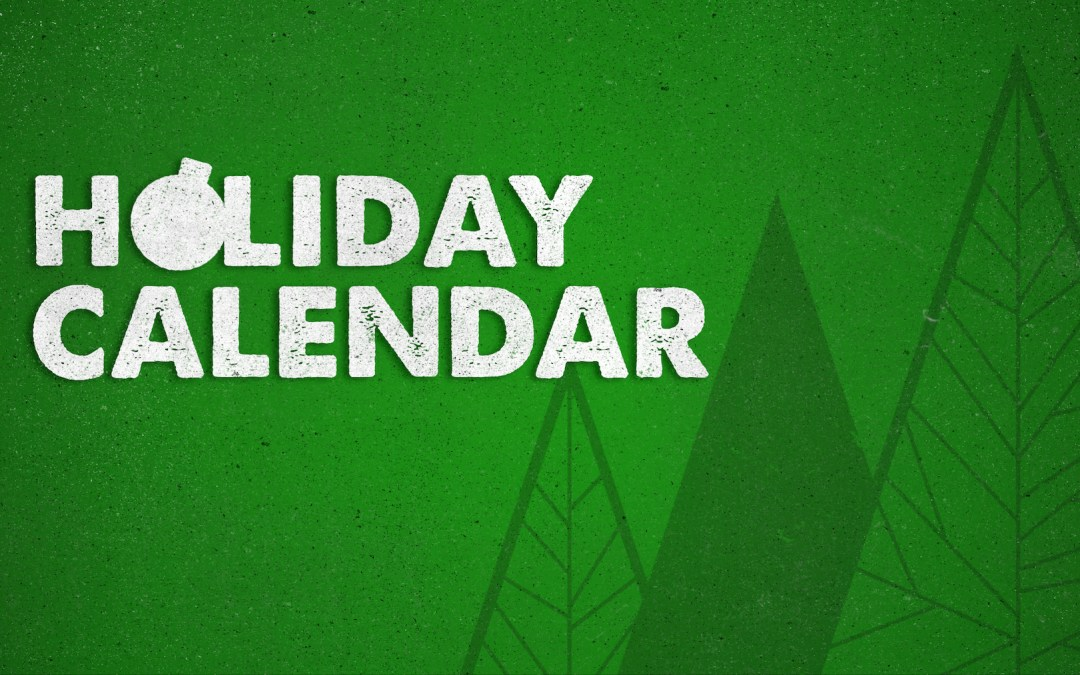 Holiday Calendar 2018