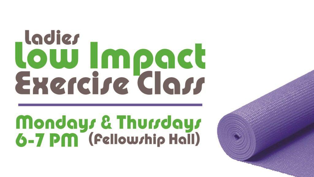Ladies Low Impact Exercise Class