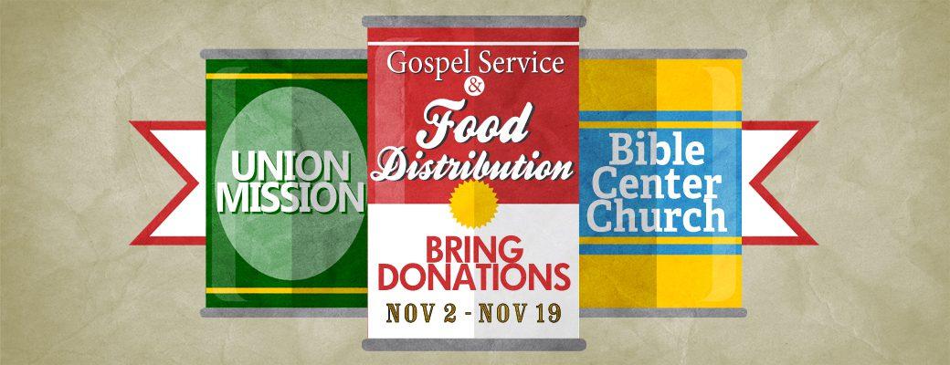 Thanksgiving Gospel Service & Food Distribution