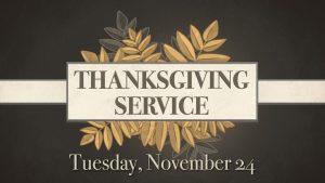 15 Thanksgiving Service