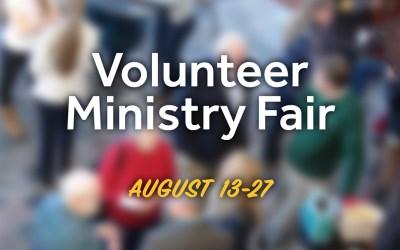 Volunteer Ministry Fair