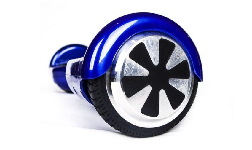 roue hoverboard bleu