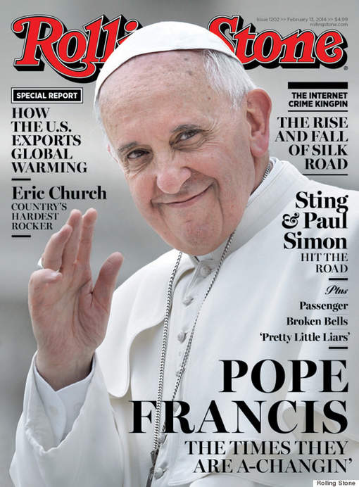 """Le pape François Ier en couverture du """"Rolling Stone"""""""