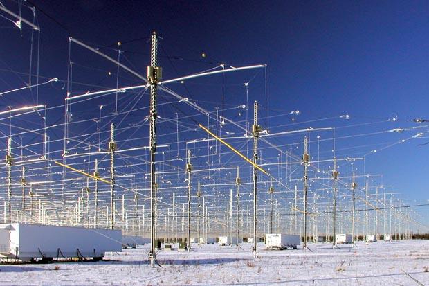 Site H.A.A.R.P. près de Gakona, en Alaska