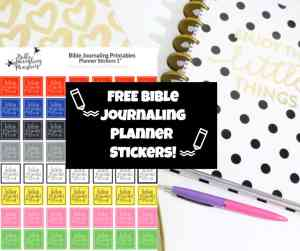 Features Of The Bible Journaling Planner Stickers