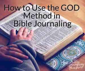 soap method god method