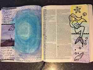 Bible journaling scrapbook layout