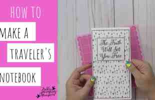 How to Make a Travelers Notebook for Bible Journaling