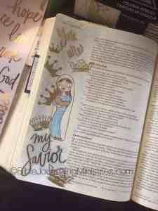 Christmas Bible journaling ideas luke 2
