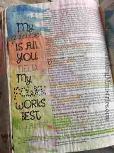 Bible Journaling 2 Corinthians 12:9