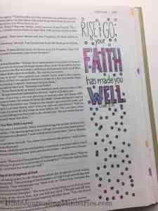 Bible Journaling Luke 17:19