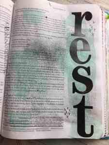 Bible Journaling Matthew 11:28-30