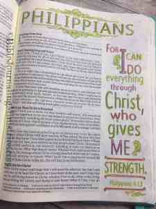 Bible Journaling Phillippians 4:13
