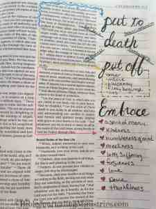 Bible Journaling Colossians 3:5-15