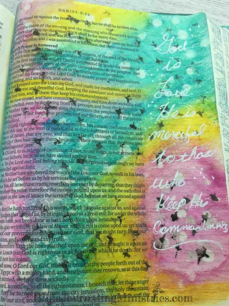 Bible Journaling Daniel 9:4