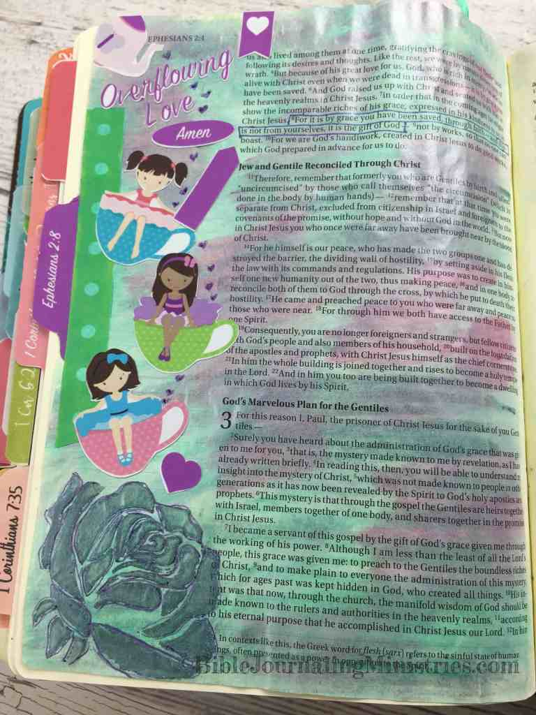 Bible Journaling Ephesians 2:8