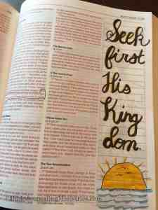Bible Journaling Matthew 6:33
