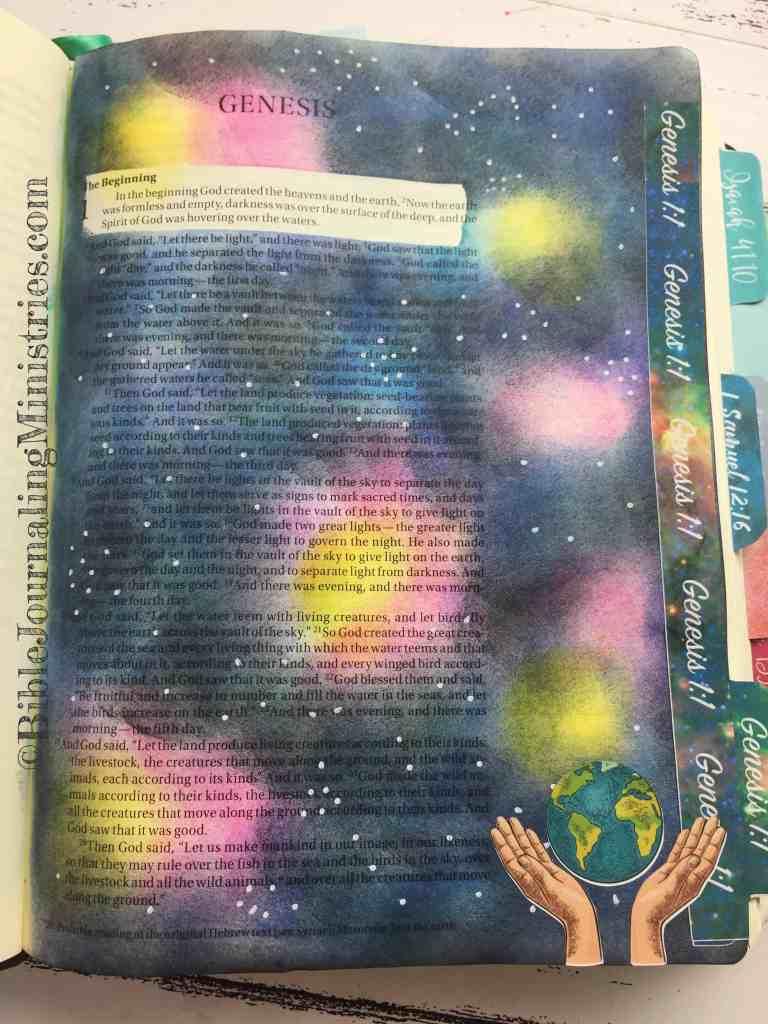 Bible Journaling Genesis 1:1