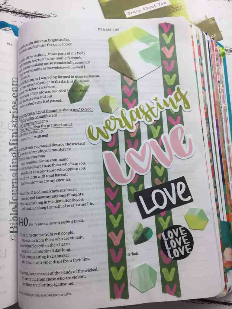 Bible Journaling Psalm 139:17-18