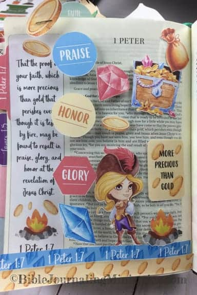 Bible Journaling Unfailing Faith Momentum Devotional 1 Peter 1.7