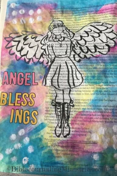 Bible Journaling Bible Verses About Angels Genesis 48.16