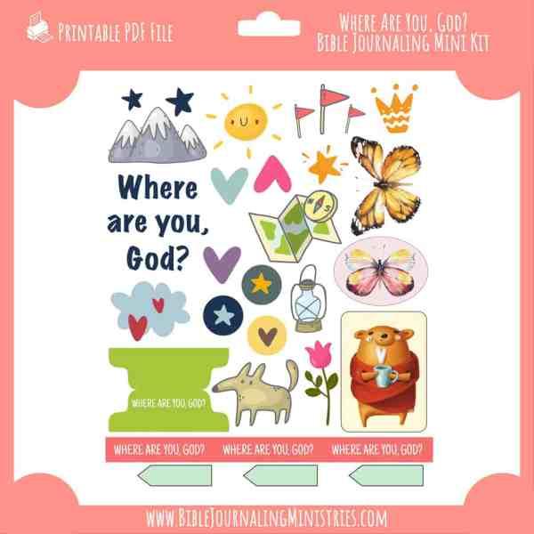 Where Are You, God? Mini Bible Journaling Kit