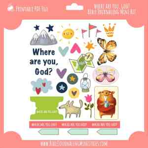 Where Are You, God? Mini Bible Journaling Kit