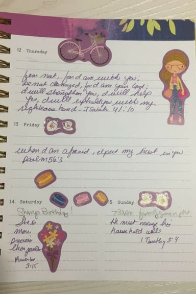 Bible journaling on a budget with Dollar Tree stickers 6
