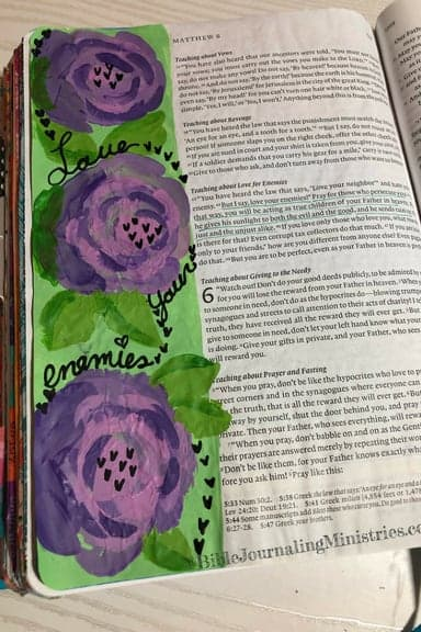 Bible Journaling Verses in Matthew, Matthew 5:44-45
