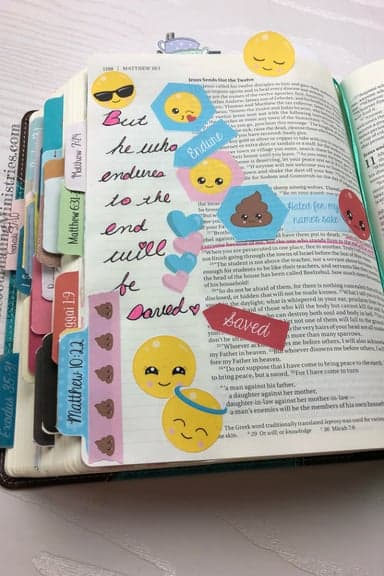 Joining the Be Courageous – A Bible Journaling Devotional Matthew 10:22
