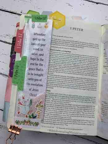 Merry Christmas Bible Devotional - 1 Peter 1:13