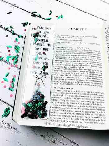 Merry Christmas Bible Devotional - 1 Timothy 1:17