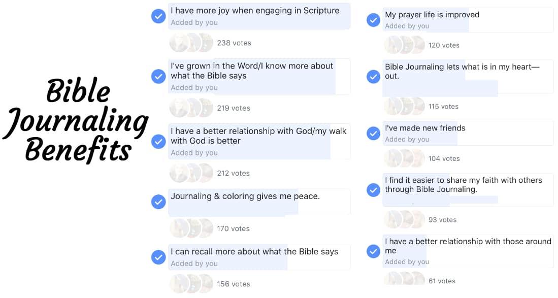 bible journaling benefits
